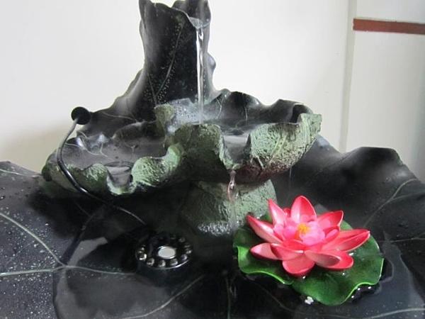 [超豐國際]流水噴泉 加濕器 樹脂風水池 噴泉- 碧荷
