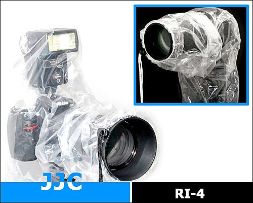 又敗家@2件JJC單眼相機雨衣RI-4C(一件可裝閃光燈;一件不可)防雨罩輕單眼防雨套單眼防水套