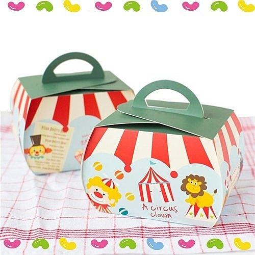 馬戲團 嘉年華 手提蛋糕盒 小丑系列 手提盒子 西點盒 切片蛋糕