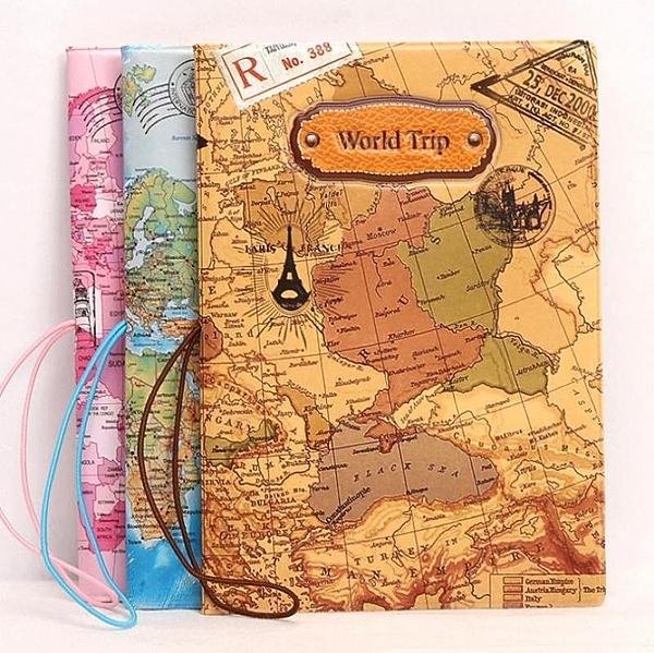 世界地圖立體護照包【NF616】護照保護套 設計風護照套 地圖圖案 證件包 出國必備 護照夾