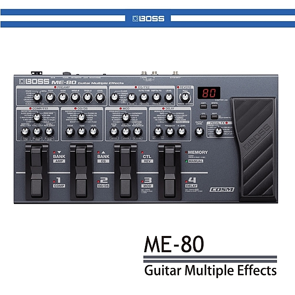 【非凡樂器】BOSS ME-80 吉他多重綜合效果器 公司貨保固