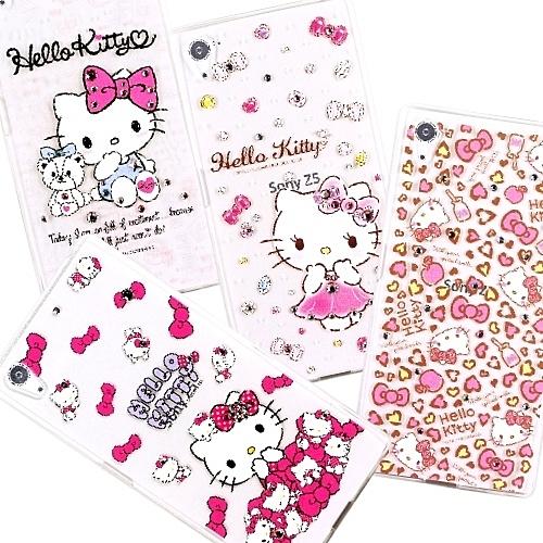 【Hello Kitty】SONY Xperia Z5 (5.2吋) 彩鑽透明保護軟套
