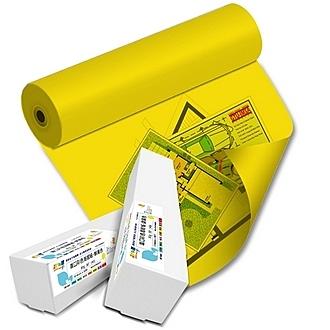 彩之舞 HY-R9036YL 進口彩色海報紙-鮮黃色 80g 36 (914mm)×50M (A0) - 1捲/箱