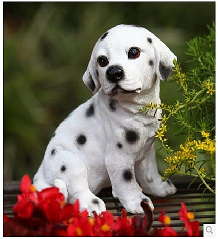 可愛小狗擺件(斑點狗)