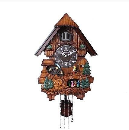【衫衫來時】韓國凱樂絲布穀鳥客廳掛鐘整點報時客廳臥室靜音實木掛鐘咕咕掛鐘