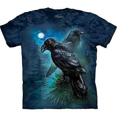 【摩達客】 (預購)美國進口【The Mountain】Classic自然純棉系列 雷文斯渡鴉設計T恤(10412045102a)