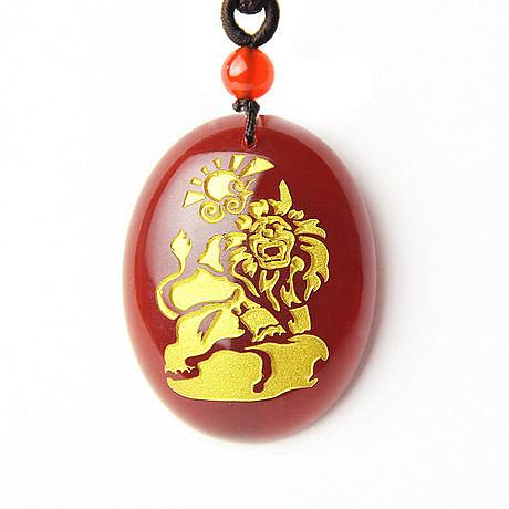 天然紅瑪瑙生肖猴 財獅抱喜吉祥物