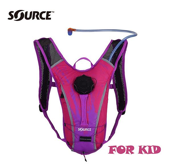以色列SOURCE兒童自行車水袋背包Spinner NC2050115915【粉紅/紫】1.5L