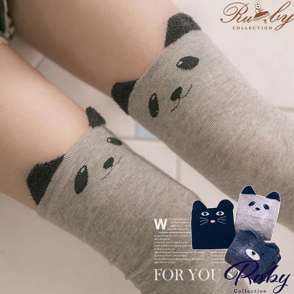 襪子 小動物耳朵造型膝上襪-Ruby s 露比午茶