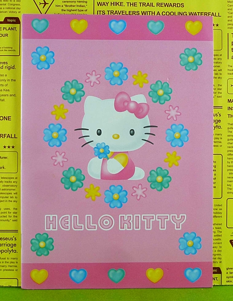 【震撼精品百貨】Hello Kitty 凱蒂貓~筆記本~側坐~花【共1款】