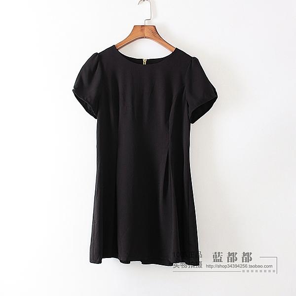 [超豐國際]鋇夏裝女裝黑色短袖百搭時尚韓版T恤 散15575(1入)