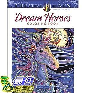 暢銷畫冊書 Creative Haven Dream Horses Coloring Book (Adult Coloring) Paperback