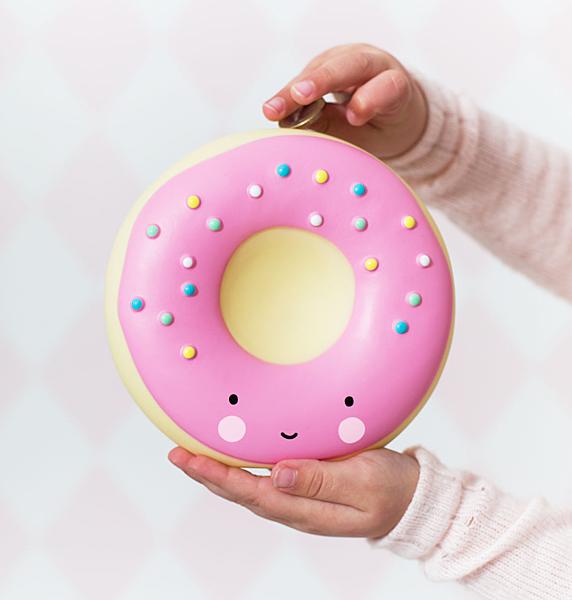 【荷蘭 A little lovely company】造型存錢筒 - 粉紅甜甜圈 #MBDOPI07