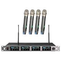 MIPRO ACT-747B / ACT747B ACT-747B 窄頻四頻道純自動選訊接收機 配4支窄頻手握無線麥克風ACT-72H