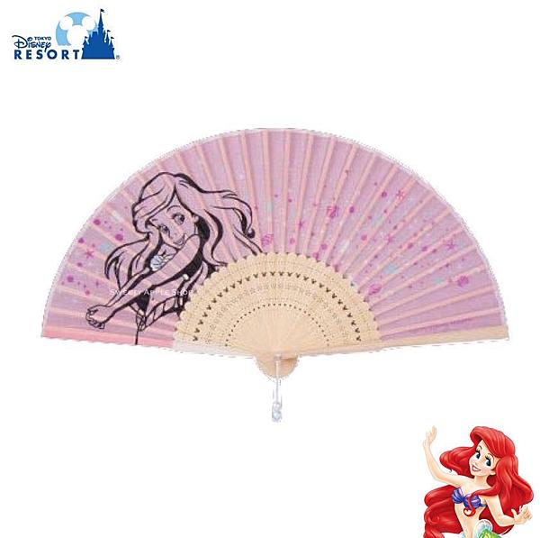 日本 東京迪士尼樂園限定 小美人魚 / 愛麗兒 隨身折疊涼扇 / 扇子