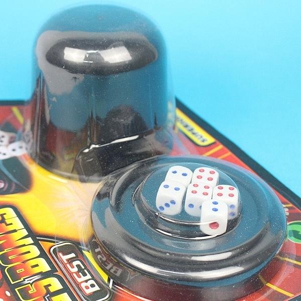 骰盅 6681 過五關骰盅遊戲(卡裝)/一個入(促50) 吹牛骰子樂-CF104138