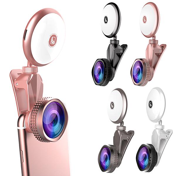 ○再升級!! 九段補光 美顏神器 廣角+微距+魚眼 RK19 鏡頭○ASUS Zenfone2 Go TV Zoom Selfie ZenFone3 補光鏡頭