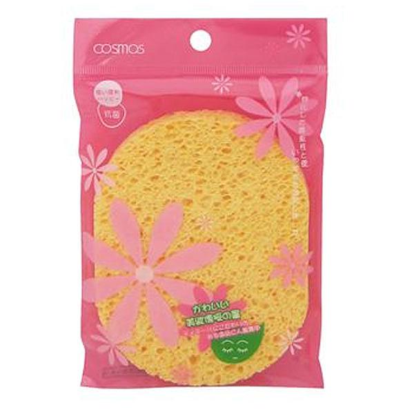 COSMOS 洗臉海棉(橢圓形)-大 1個入 S30158【娜娜香水美妝】01583