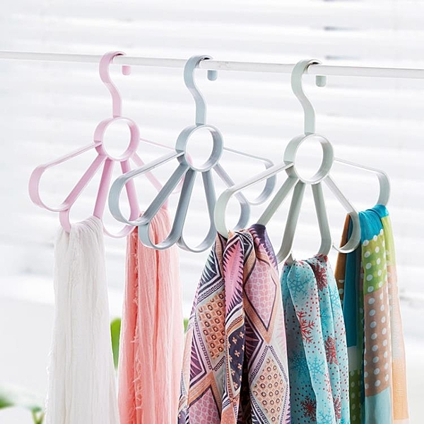3個裝 圈圈圍巾架腰帶收納掛架領帶架 圍巾架子衣架收納架絲巾架 黛尼時尚精品