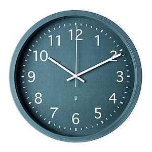 HOLA 素色靜音壁鐘 直徑39cm 綠色款