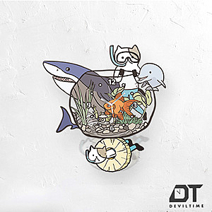 DT Time搖擺木質系列 - 貓咪水族