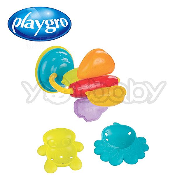 澳洲Playgro 軟膠洗澡組/洗澡玩具-水中繽紛轉轉輪