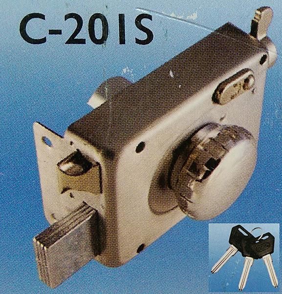 COE 隱藏式白鐵四段鎖 C-201S大轉鈕 裝置距離60mm 孔徑35mm 門厚30~50mm