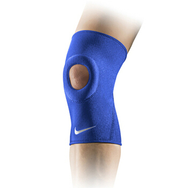 Nike Pro Open Patella [NMS55413XL] 運動 防護 支撐 開洞式 護膝 藍 XL