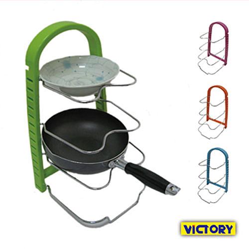 【VICTORY】鍋具碗盤收納整理架(2入) #1132014 砧板架 鍋蓋架 瀝水