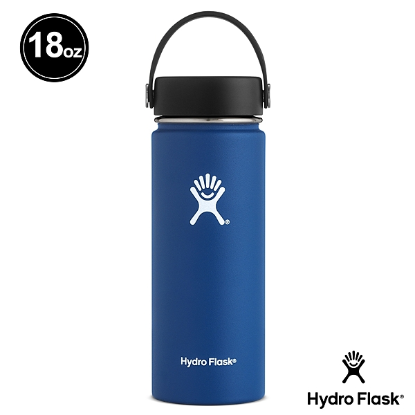 【Hydro Flask】簡約時尚 寬口 保冷瓶   保溫瓶 532ml 鈷藍色 #18TS407