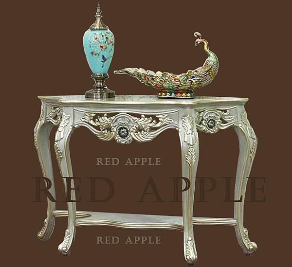 [紅蘋果傢俱] 24 新古典 玄關桌 裝飾 高檔奢華 金箔銀箔 雕花