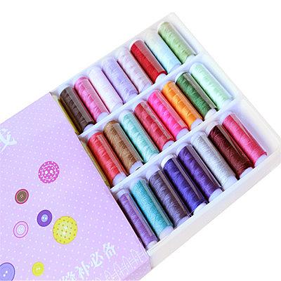 現貨24H 39色 家用縫紉機DIY彩色線優質小軸線縫紉線 針線盒手縫線 縫紉線 萬聖節狂歡價