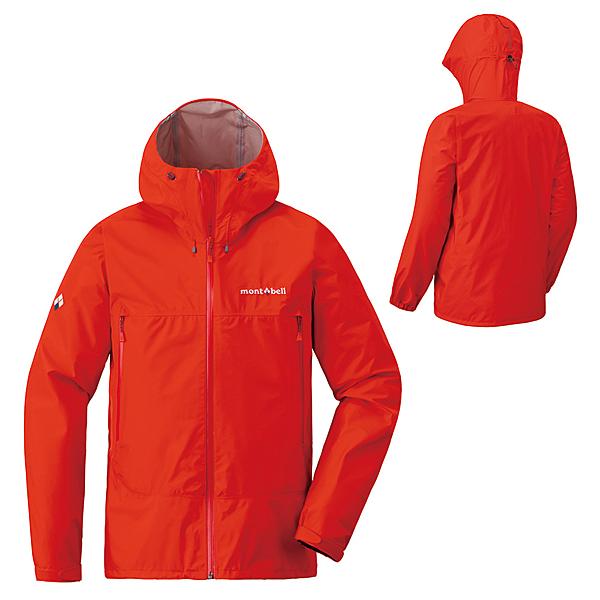 [好也戶外]mont-bell Rain Dancer Jacket男款連帽風雨衣/鮮紅 No.1128618-RD