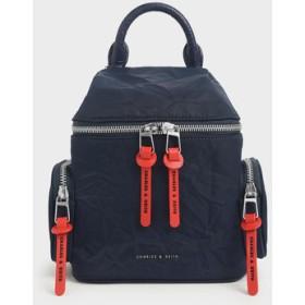【2019 WINTER 新作】リンクルドエフェクト2ウェイ ジップバックパック / Wrinkled Effect Two-Way Zip Backpack (Dark
