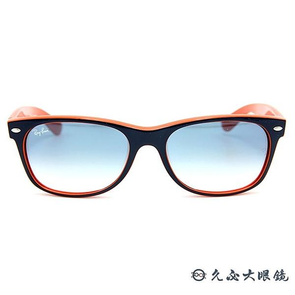 RayBan墨鏡 WAYFARER 經典框型雷朋眼鏡 RB2132 7893F 藍/橘 久必大眼鏡