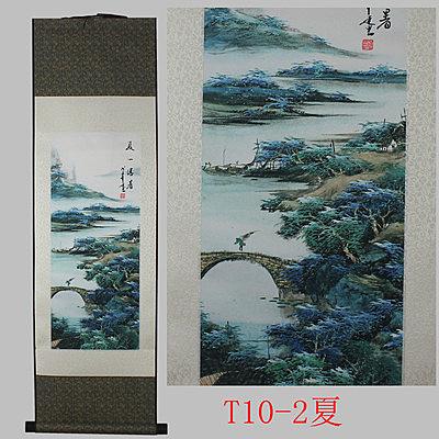 [銀聯網] 家居裝飾中國特色絲綢倦軸畫 1入