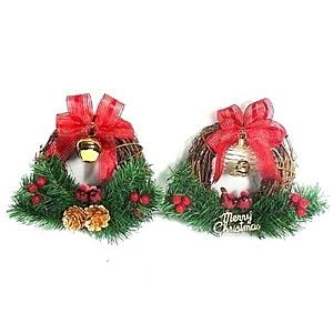 【摩達客】聖誕鈴鐺樹藤花圈對組(一組兩入)