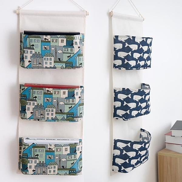 牆掛式衣櫃 布藝棉麻牆上門後儲物整理袋大掛式收納袋NMS 露露日記