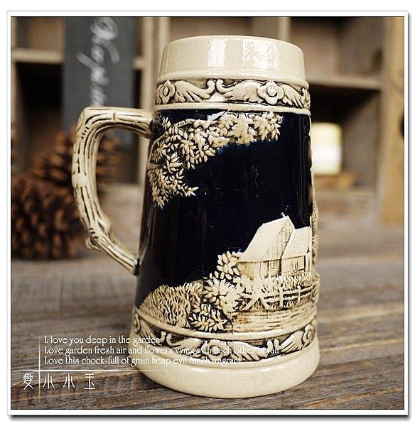 【風車鎮天鵝湖】陶瓷德國啤酒杯