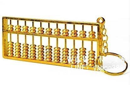純銅算盤大號鑰匙扣文昌塔筆旺財掛件