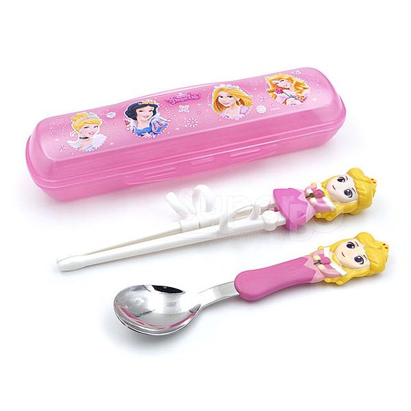 迪士尼 Disney 3D學習筷湯匙組 睡美人(附收納盒)