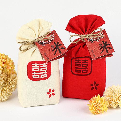 幸福婚禮小物❤袋袋相傳 精緻碾米❤ 婚禮小物/送客禮/創意小禮物/喝茶禮/喜米