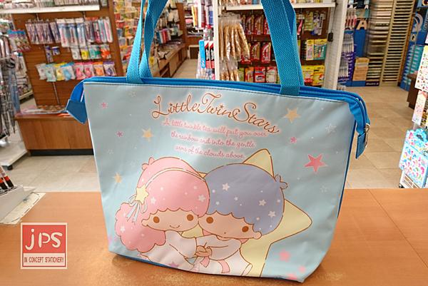 Little Twin Stars 雙子星 橫式保冷側背袋 保暖袋 便當袋 野餐袋 購物袋 藍
