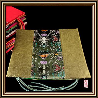 中式布藝坐墊拼花 帶繩皇宮圈