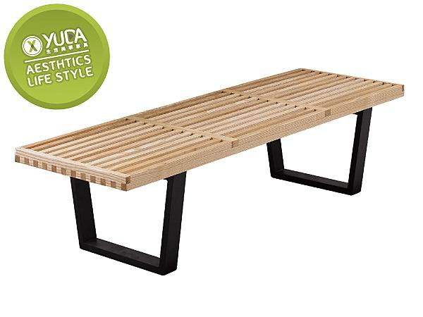 餐椅【YUDA】喬治 優麗坦 實木 長條椅 餐椅/休閒椅/書桌椅 J8F 490-14