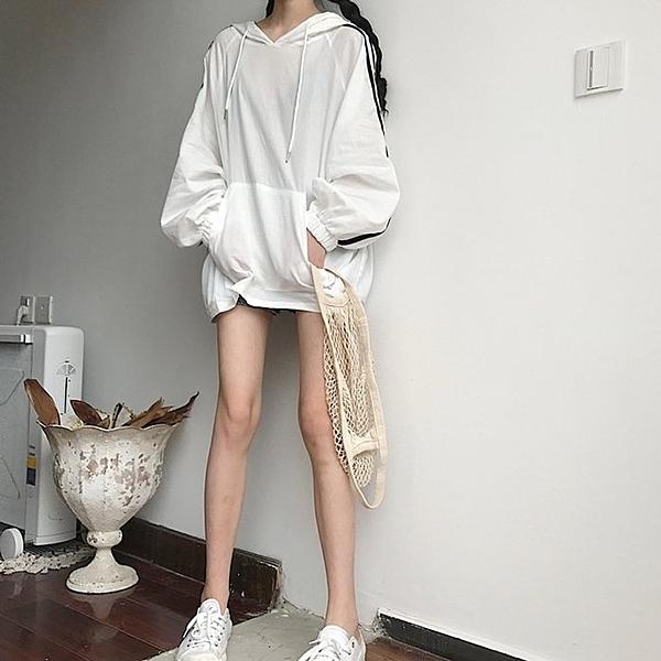 FINDSENSE G6 韓國時尚潮流 2019夏季新款早秋休閒薄款寬鬆連帽長袖