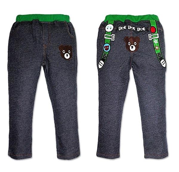 韓版《小熊背帶款》仿牛仔 百搭長褲