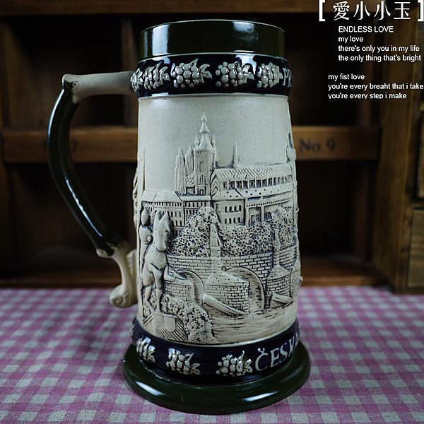【德國啤酒杯布拉格騎士90193】陶瓷馬克杯創意