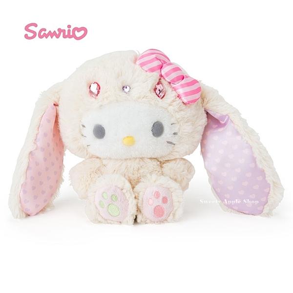 日本限定 三麗鷗  HELLO KITTY  凱蒂貓 兔子系列 絨毛玩偶娃娃 22cm