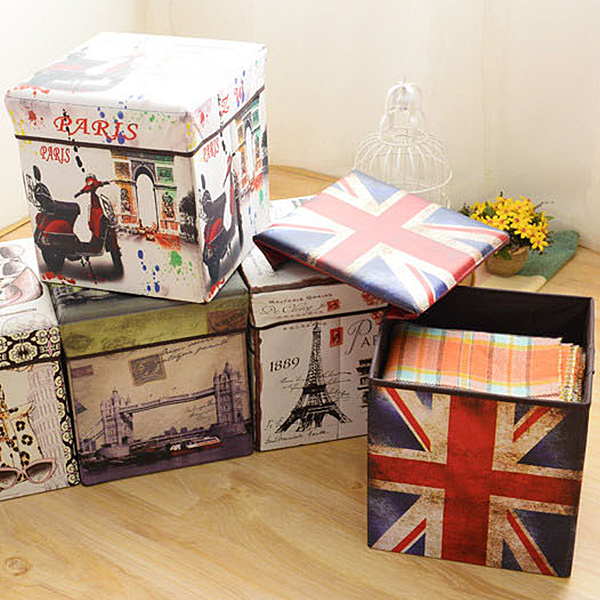 交換禮物 創意 聖誕 美式 摺疊收納盒 聖誕節 內衣收納 儲物盒 多功能 嚴選熱銷 收納箱 椅子 板凳